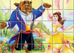 Красавица и Чудовище - Beauty and Beast Spin Puzzle