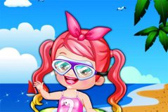 Хейзел Пловец - Baby Hazel Swimmer Dress Up