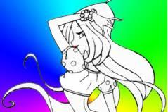 Блестящая раскраска Флоры - Flory Colorear