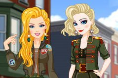 Военная Форма - Elsa аnd Barbies Army Look