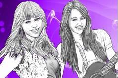 Раскраска Ханна Монтана - Hannah Montana