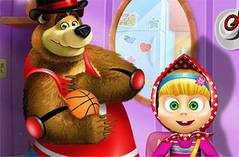 Одень Мишу и Машу - Masha аnd The Bear Dress Up