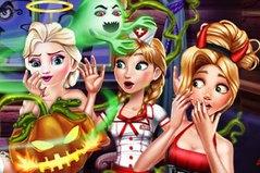 Принцессы и Хеллоуин - Disney Spooky Cabin Hallowwen