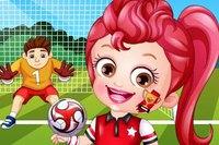 Хейзел Играет в Футбол - Hazel Football Player DressUp
