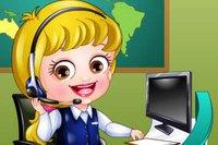 Секретарь в Приемной - Baby Hazel Receptionist Dress Up