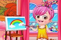 Артистка Хейзел - Baby Hazel Artist Dressup