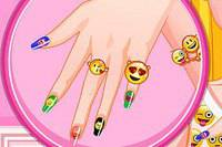 Яркий Маникюр - Barbie Emoji Nails Designer