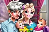 День Семьи - Elsa Twins Family Day
