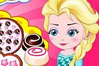 Эльза Готовит Печенье - Elsa Baby Lovers Make Cookies