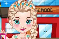 Эльза Идет в Школу - Baby Elsa Goes To School