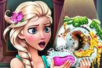 Эльза Моет Посуду - Elsa Dish Washing Realife