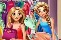 Гардеробная Принцесс - Elsa And Rapunzel Dressing Room