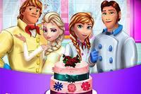 Свадебный Тортик - Frozen Family Cooking Wedding Cake