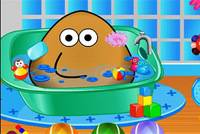 Купание Поу - Pou Bathing
