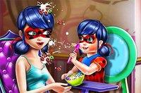 Леди Баг и Малыш - Ladybug Mommy Toddler Feed