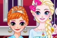 Макияж Сестер - Elsa аnd Anna Makeup Party