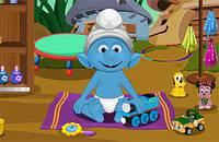 Маленький Смурфик - Smurfs Baby Bathing