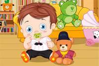 Малыш и Мишка Тедди - Baby with Teddy Bear
