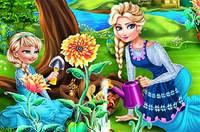 Мама Эльза в Саду - Elsa Mommy Gardening
