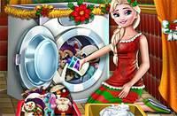 Новогодняя Стирка - Elsa Washing Christmas Toys