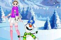 Одень Эльзу и Олафа - Elsa аnd Olaf Dress