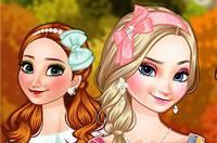 Осенние Образы Сестер - Frozen Sisters Autumn Travelling