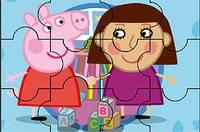 Пазл Свинка Пеппа - Peppa Pig Juegos