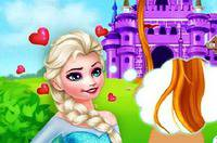Перевоплощение Эльзы - Elsa Become Rapunzel