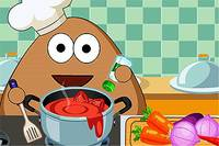 Поу Бездельничает на Кухне - Pou Kitchen Slacking