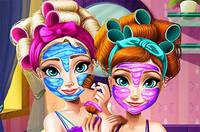Преображение Сестер - Frozen Real Makeover