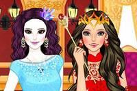 Принцессы Огонь и Холод - Ice Princess vs Fire Princess