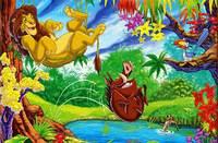 Прыжок в Озеро - Lion King Timon and Pumba
