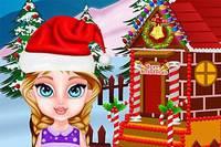 Пряничный Дом Эльзы - Baby Elsa and Gingerbread House