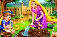Рапунцель в Саду - Rapunzel Mommy Gardening