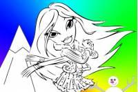 Раскрась Братц 5 - Bratz Coloring 5