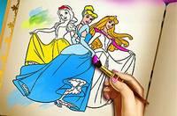 Раскрась Принцесс - Princess Coloring Book