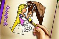 Раскрась Рапунцель - Rapunzel Coloring Book