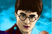 Раскраска Гарри Поттера - Harry Potter Coloring