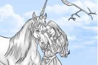Раскраска с Единорогом - Unicorn Coloring