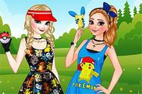 Сестры и Покемоны - Frozen Sisters Pokemon