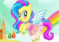 Стильная Флаттершай - Fluttershy Rainbow Power Style