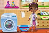 Стираем Одежду с Плюшевой - McStuffins Washing Clothes