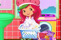 Стираем Наряды - Strawberry Shortcake Washing Clothes