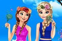 Весенние Образы Сестер - Elsa And Anna Spring Dress Up