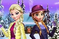 Зимние Наряды Сестер - Elsa and Anna Winter Dress Up